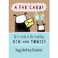 Deeply Sheeply Funny Gin Birthday Card , Giant Size By Moonpig