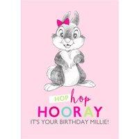 Disney Sketch Thumper Hop Hooray Birthday Card, Giant Size By Moonpig