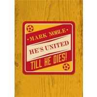 Down The Local - Beer Mats Till He Dies!, Large Size By Moonpig