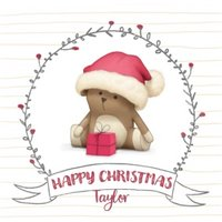 Dud Personalised Square Christmas Card, Large Card Size By Moonpig