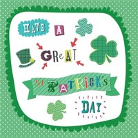 Have A Great St Patricks Day Clover Card, Square Card Size By Moonpig