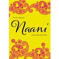 To A Very Special Naani Islamic Birthday Card, Large Size By Moonpig