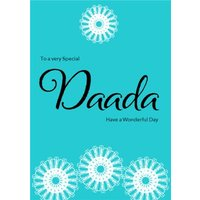 To A Very Special Daada Islamic Birthday Card, Giant Size By Moonpig