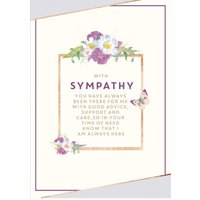 Traditional - Typographic Sympathy Card, Standard Size By Moonpig