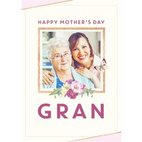 Flowers And Butterflies Happy Mother's Day Gran Card, Giant Size By Moonpig