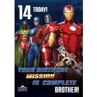 Marvel Future Fight 14 Today Gaming Birthday Card, Standard Size By Moonpig