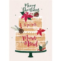 Merry Christmas To Yo Both Mum And Dad Card, Standard Size By Moonpig