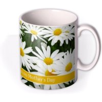 Daisies Print Personalised Text Mug by Moonpig, Gift Set - Delivery Available