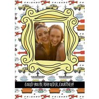 Friends TV Photo Upload Birthday Card, Standard Size By Moonpig