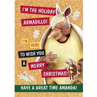 Friends TV The Holiday Armadillo! Merry Christmas, Standard Size By Moonpig