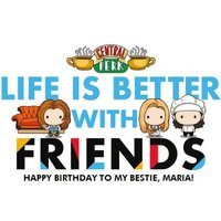 Friends TV Life Is Better With Happy Birthday Card, Giant Size By Moonpig