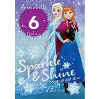 Disney Frozen Sparkle And Shine Birthday Card, Large Size By Moonpig