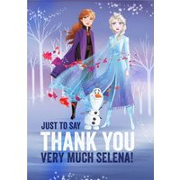 Disney Frozen 2 Anna Elsa Olaf Just To Say Thank You Card, Giant Size By Moonpig