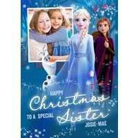 Disney Frozen 2 Special Sister Photo Upload Christmas Card , Standard Size By Moonpig