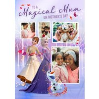 Disney Frozen 2 Magical Multiple Photo Upload Mother's Day Card For Mum, Large Size By Moonpig