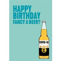 Modern Funny Fancy A Beer Birthday Card, Large Size By Moonpig