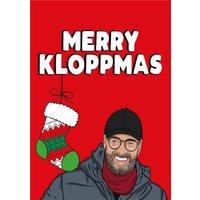 Funny Cartoon Merry Kloppmas Christmas Card, Standard Size By Moonpig