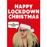Happy Lockdown Christmas I Am Claustrophobic Boris Card, Standard Size By Moonpig
