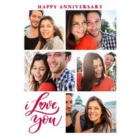 Silly Sentiments Photo Upload I Love You Anniversary Card, Giant Size By Moonpig