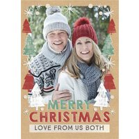 Festive Fir Christmas Vertical Photo Upload Card, Large Size By Moonpig