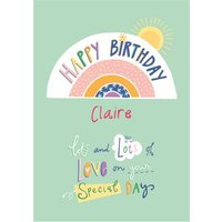 Happy Birthday Lots Of Love On Your Special Day Card, Large Size By Moonpig
