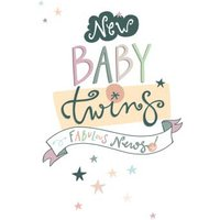 New Baby Twins Fabulous News Card, Standard Size By Moonpig