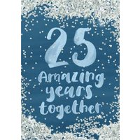 Personalised 25th Anniversary Card, Large Size By Moonpig