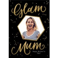 Metallic Gold Glam Mum Personalised Mother's Day Card, Large Size By Moonpig