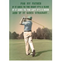Father's Day Golf Card, Standard Size By Moonpig