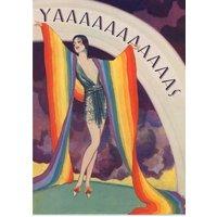Birthday Card - Retro Illustration Humour Pride Rainbow, Standard Size By Moonpig