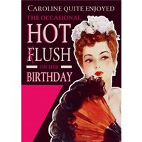 Retro Funny Humour Hot Flush Menopause Personalised Friend Birthday Card, Giant Size By Moonpig