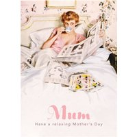 Have A Relaxing Day Mum Retro Illustrated Mother's Card , Giant Size By Moonpig