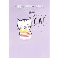Happy Fathers Day From The Cat Card, Standard Size By Moonpig