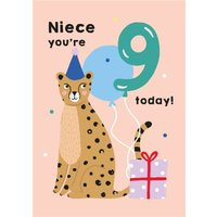 Illustrated Cute Elephant Party Hat Yay 2 Today Birthday Card, Giant Size By Moonpig