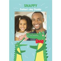 Alligator Illustration Snappy Father's Day Photo Upload Card, Standard Size By Moonpig