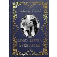 Book Cover Photo Upload Lived Happily Ever After Wedding Card, Standard Size By Moonpig