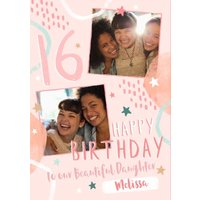 16th Birthday Friend Photo Upload Card To Our Beautiful Daughter, Giant Size By Moonpig