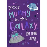 Hooray For Today Best Mummy In The Galaxy Mother's Day Card, Giant Size By Moonpig