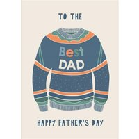 Illustrated Jumper To The Best Dad Happy Fathers Day Card, Standard Size By Moonpig