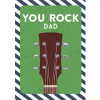 Dad Birthday Card - You Rock Guitar, Giant Size By Moonpig