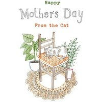 Sleeping Kitty From The Cat Happy Mother's Day Card, Standard Size By Moonpig