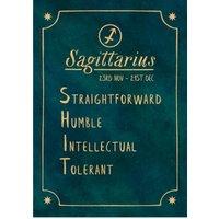 Funny Rude Horoscope Birthday Card - Sagittarius, Giant Size By Moonpig