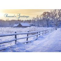 Snow Scene Christmas Card, Giant Size By Moonpig