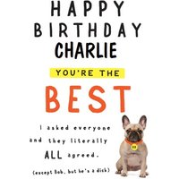 Happy Birthday You're The Best Card, Large Size By Moonpig