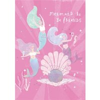 Mermaid To Be Friends Party Disco Card, Standard Size By Moonpig