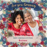 Hope Blossoms Photo Upload Christmas Card For You Granny Merry , Square Size By Moonpig