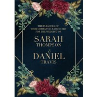 Hope Blossoms Floral Wedding Invitation , Standard Size By Moonpig