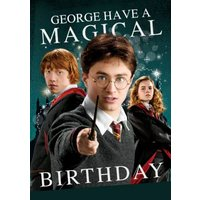 Harry Potter Ron Weasley Hermione Granger Card - Magical Birthday Card, Standard Size By Moonpig