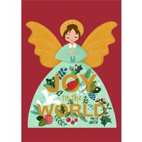 Angel Joy To The World Christmas Card, Giant Size By Moonpig