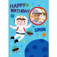 Helter Skelter Astronaut Photo Upload Card, Giant Size By Moonpig